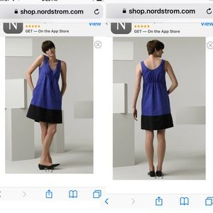 Nwot Vince XS Azure colorblock Dress Blue Black